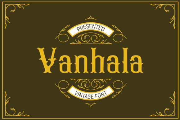 Print on Demand: Vanhala Display Font By gumacreative