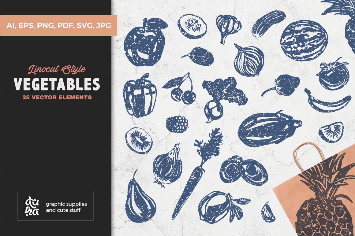 Download Free Vegetables Graphic By Duka Creative Fabrica for Cricut Explore, Silhouette and other cutting machines.