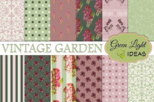 Vintage Floral Digital Papers Graphic By GreenLightIdeas