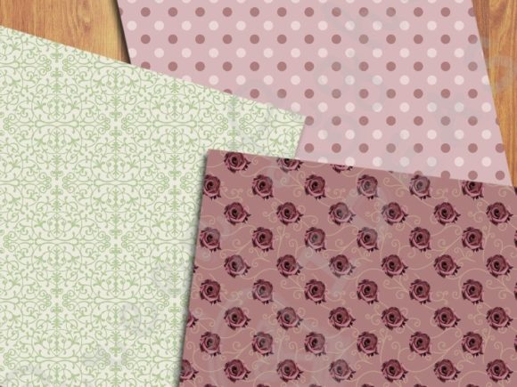 Vintage Floral Digital Papers Graphic Patterns By GreenLightIdeas - Image 5