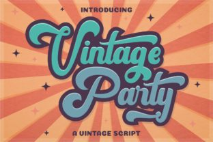 Vintage Party Font By putracetol