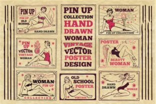 Print on Demand: Vintage Pin Up Poster Graphic Illustrations By bywahtung 1