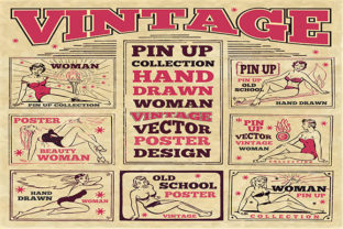 Print on Demand: Vintage Pin Up Poster Graphic Illustrations By bywahtung 2