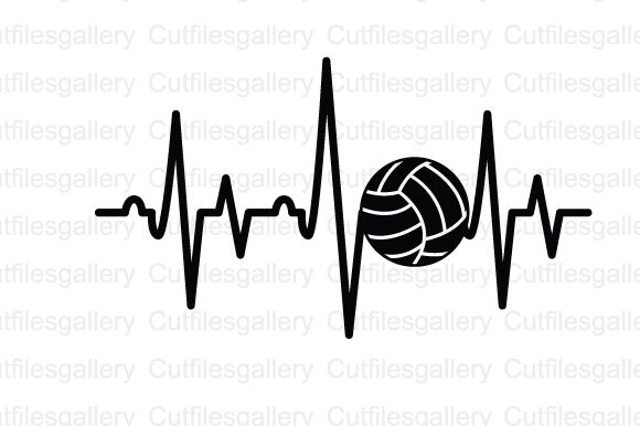 Download Free Volley Ball Heartbeat Svg Graphic By Cutfilesgallery Creative for Cricut Explore, Silhouette and other cutting machines.