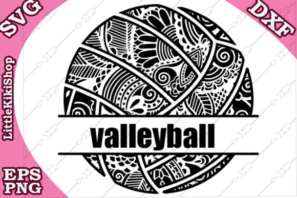 Download Free Volleyball Monogram Graphic By Littlekikishop Creative Fabrica for Cricut Explore, Silhouette and other cutting machines.