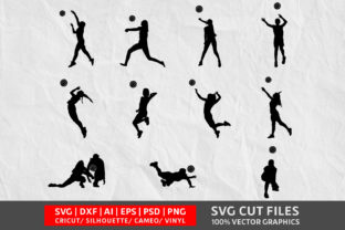 Download Free Volleyball Graphic By Design Palace Creative Fabrica for Cricut Explore, Silhouette and other cutting machines.