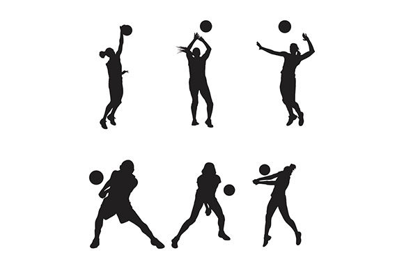 Volleyball Vector Logo Graphic Logos By rohmar