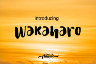 Print on Demand: Wakaharo Script & Handwritten Font By Flamde Studio