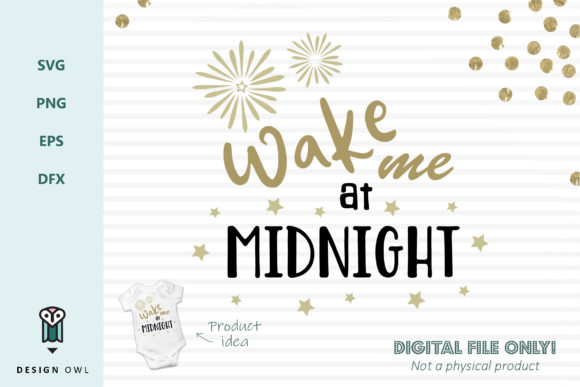 Wake Me at Midnight - SVG File Gráfico Crafts Por Design Owl