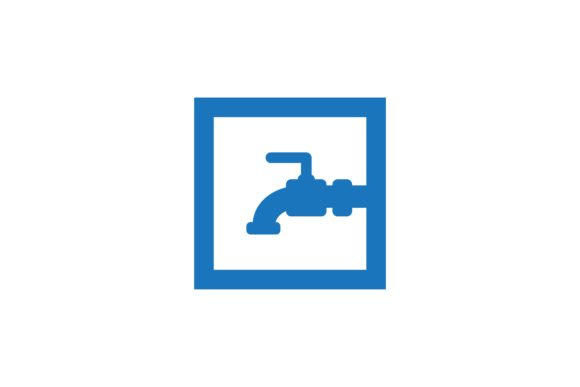 Download Free Water Faucet Plumbing Drop Water Logo Graphic By for Cricut Explore, Silhouette and other cutting machines.