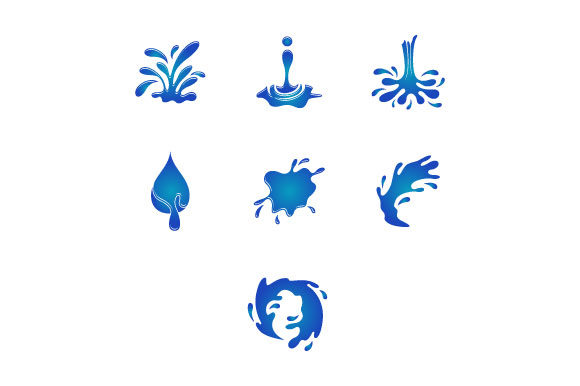 Download Free Water Splash Vector Illustration Graphic By Hartgraphic for Cricut Explore, Silhouette and other cutting machines.