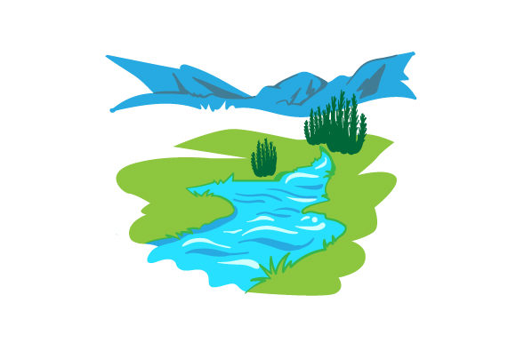 Download Free Water Stream Archivos De Corte Svg Por Creative Fabrica Crafts for Cricut Explore, Silhouette and other cutting machines.