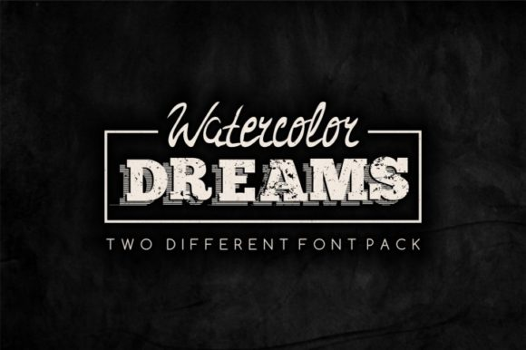 Print on Demand: Watercolor Dreams Display Font By bywahtung