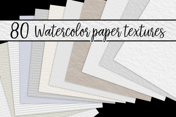 Print on Demand: Watercolor Paper Textures Graphic Textures By JulieCampbellDesigns - Image 1