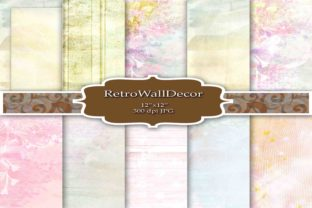 Watercolor Art Digital Paper Pack Graphic By retrowalldecor
