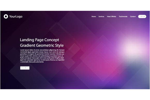Website Template Design Graphic Web Elements By MrBrahmana