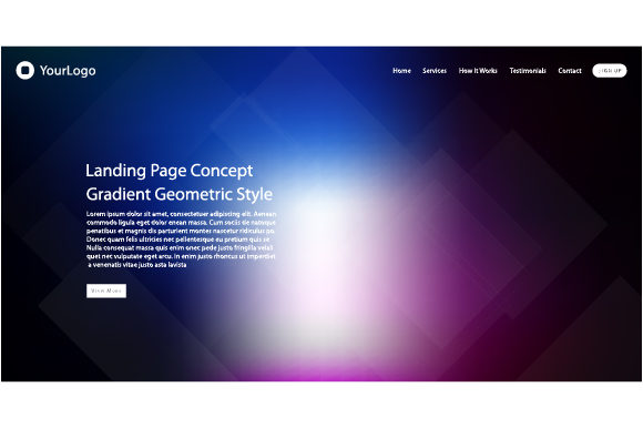 Website Template Design Graphic Websites By MrBrahmana