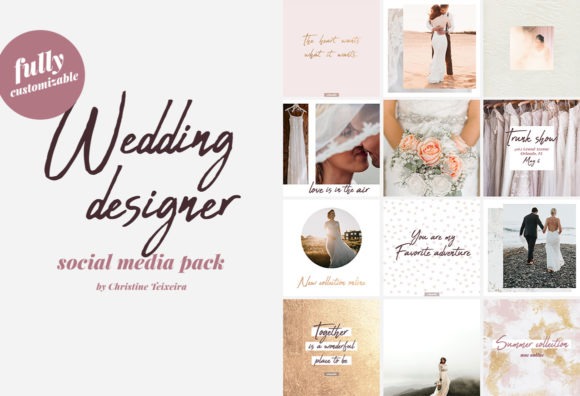 Wedding Designer - Social Media Pack Graphic Web Templates By Christine Teixeira