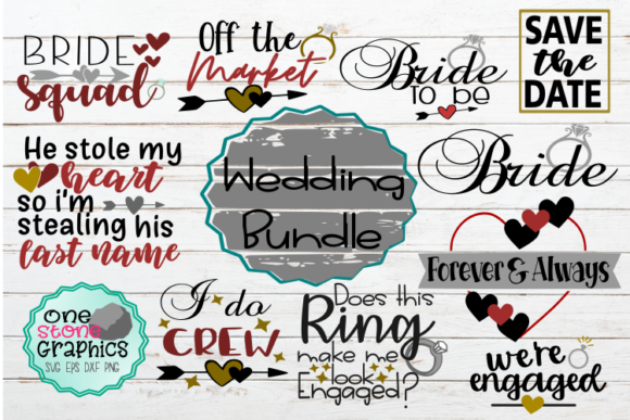 Wedding Svg Bundle Graphic Crafts By OneStoneGraphics