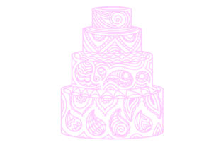 Wedding Cake Made of Paisley Paisley Craft Cut File By Creative Fabrica Crafts