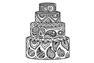 Wedding Cake Made of Paisley Paisley Craft Cut File By Creative Fabrica Crafts 2