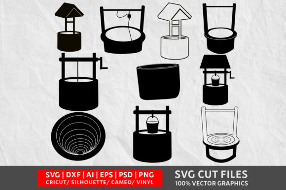 Download Free Well Graphic By Design Palace Creative Fabrica for Cricut Explore, Silhouette and other cutting machines.