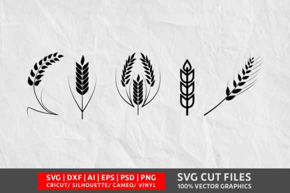 Download Free Wheat Graphic By Design Palace Creative Fabrica for Cricut Explore, Silhouette and other cutting machines.