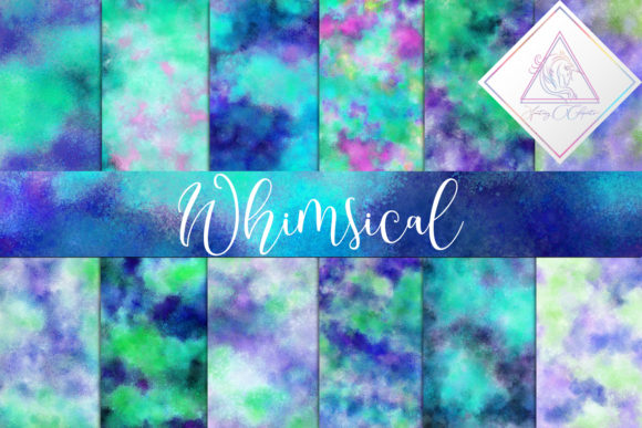 Print on Demand: Whimsical Digital Paper Graphic Textures By fantasycliparts - Image 1