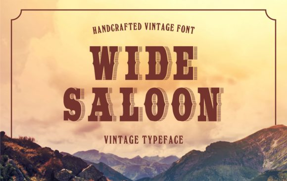 Print on Demand: Wide Saloon Display Font By bywahtung