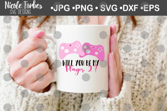 Download Free Will You Be My Player 2 Svg Graphic By Nicole Forbes Designs for Cricut Explore, Silhouette and other cutting machines.