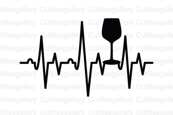 Download Free Wine Glass Heartbeat Svg Graphic By Cutfilesgallery Creative for Cricut Explore, Silhouette and other cutting machines.