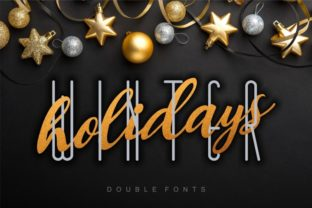 Print on Demand: Winter Holidays Duo Display Font By bywahtung