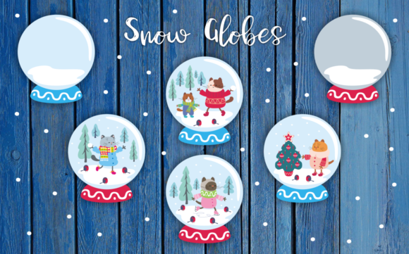 Winter Holidays Funny Cats Vector Set Graphic By Olga Belova Image 4