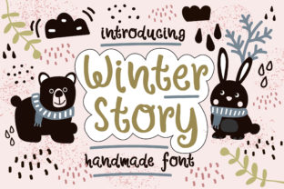 Winter Story Font By Caoca Studios