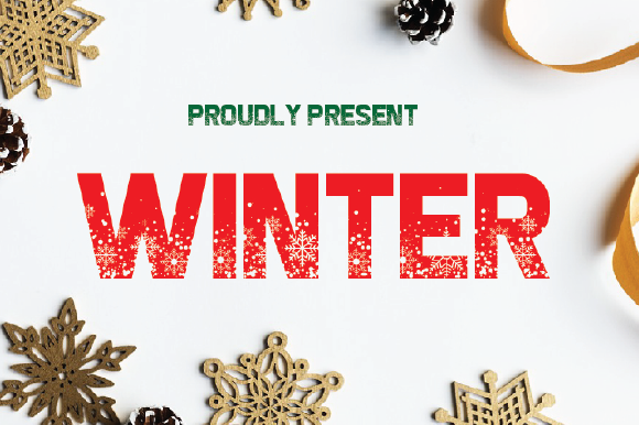 Print on Demand: Winter Decorative Font By da_only_aan - Image 1