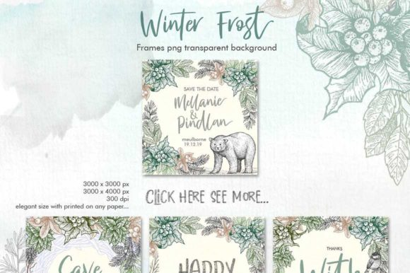 Download Free Winter Frost Graphic By Graphobia Creative Fabrica for Cricut Explore, Silhouette and other cutting machines.