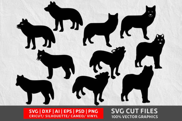 Download Free Wolf Graphic By Design Palace Creative Fabrica for Cricut Explore, Silhouette and other cutting machines.