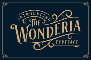 Wonderia Font By Keithzo (7NTypes)