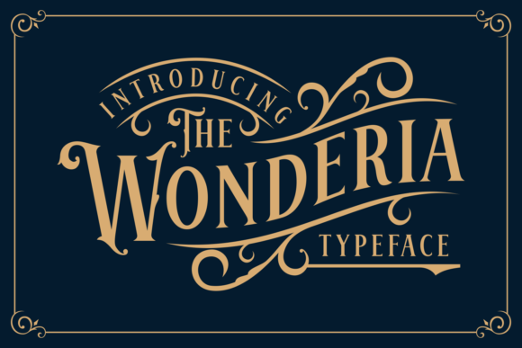 Print on Demand: Wonderia Display Font By Keithzo (7NTypes)