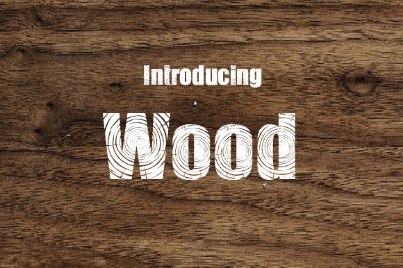 Print on Demand: Wood Decorative Font By da_only_aan - Image 1