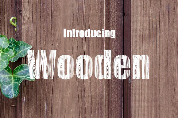 Print on Demand: Wooden Decorative Font By da_only_aan
