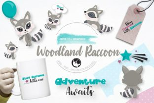 Download Free Woodland Raccoon Clipart Set Graphic By Prettygrafik Creative Fabrica for Cricut Explore, Silhouette and other cutting machines.