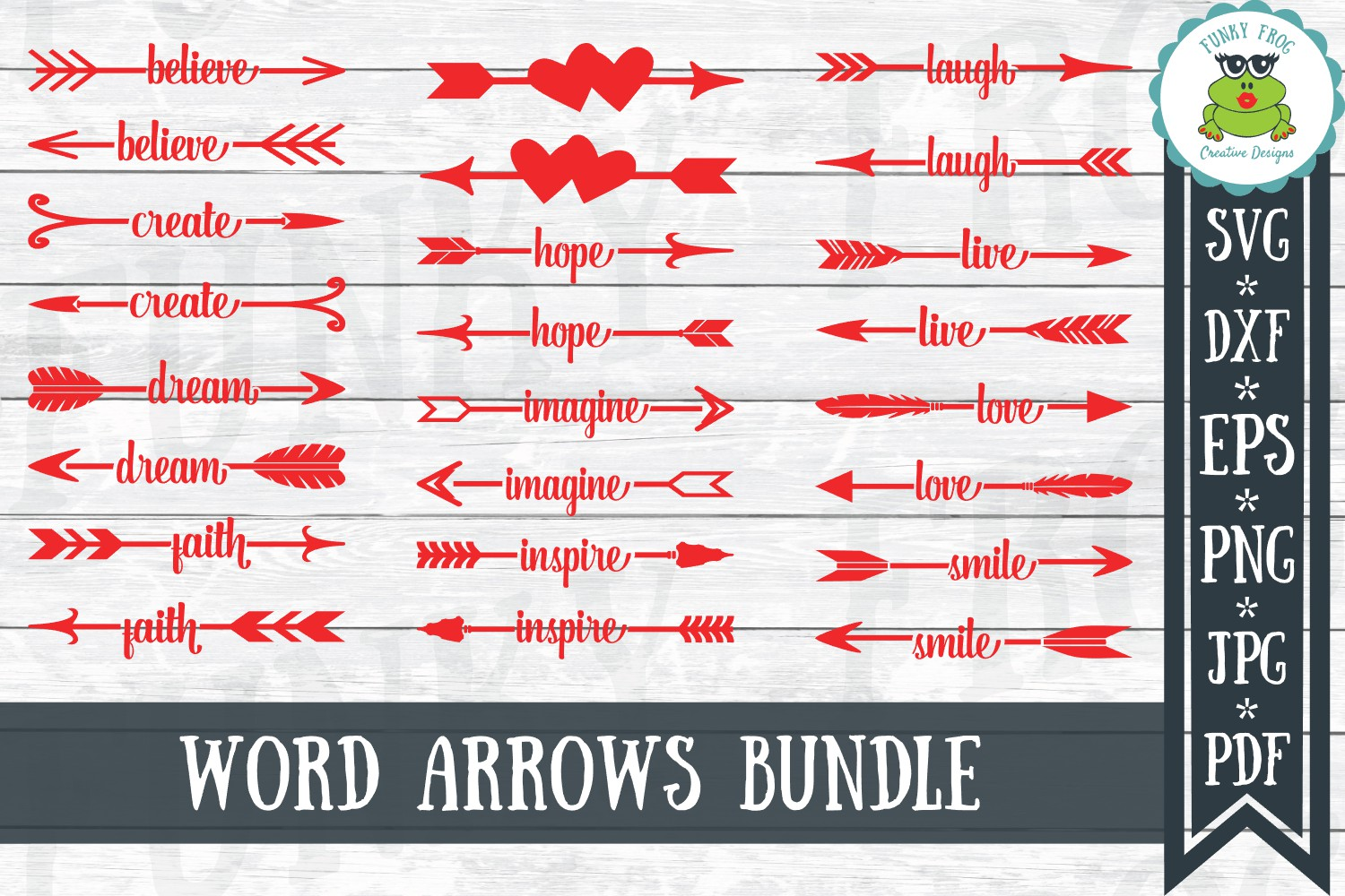 Download Free Word Arrows Graphic By Funkyfrogcreativedesigns Creative Fabrica for Cricut Explore, Silhouette and other cutting machines.