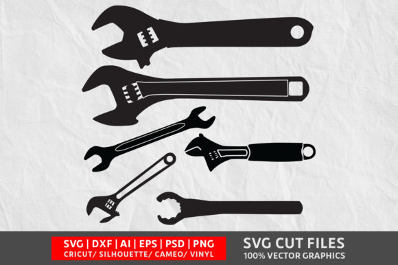 Wrench SVG Graphic By Design Palace Image 1