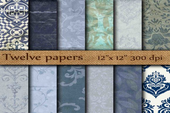 Wrinkled Digital Paper Graphic Backgrounds By twelvepapers - Image 1