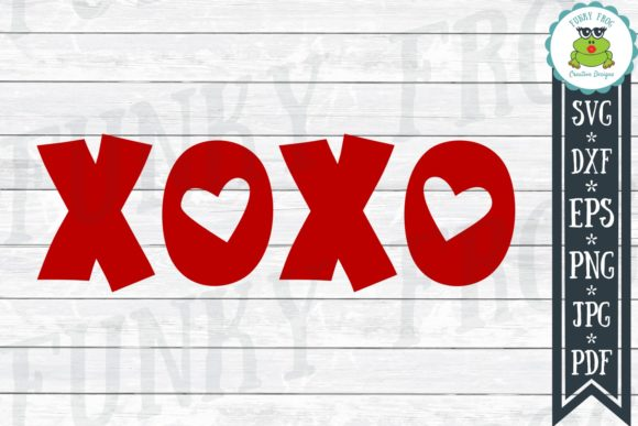 XOXO SVG Graphic Crafts By funkyfrogcreativedesigns