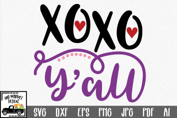 Download Free Xoxo Y All Svg Cut File Graphic By Oldmarketdesigns Creative for Cricut Explore, Silhouette and other cutting machines.
