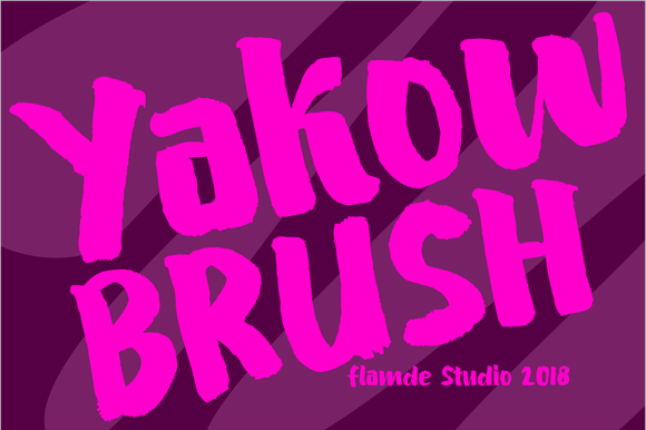 Print on Demand: Yakow Brush Display Font By Flamde Studio