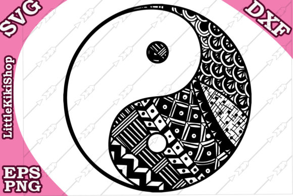 Yin Yang Svg Graphic Crafts By LittleKikiShop