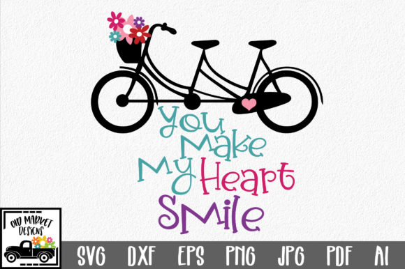 You Make My Heart Smile Svg Graphic By Oldmarketdesigns